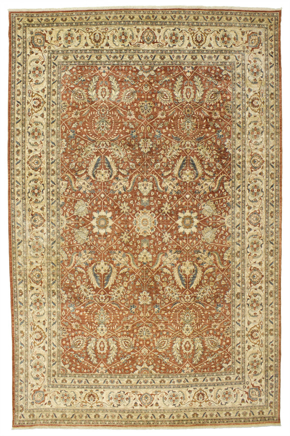 New Pakistan Hand-woven Antique Reproduction Of a 19th Century Persian Ferahan Carpet  8'x 10'7