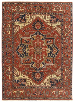 New India Hand-knotted Antique Recreation Of Persian Heriz   8'2