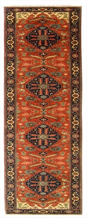 New India Hand-knotted Antique Recreation Of Persian Serapi          SOLD