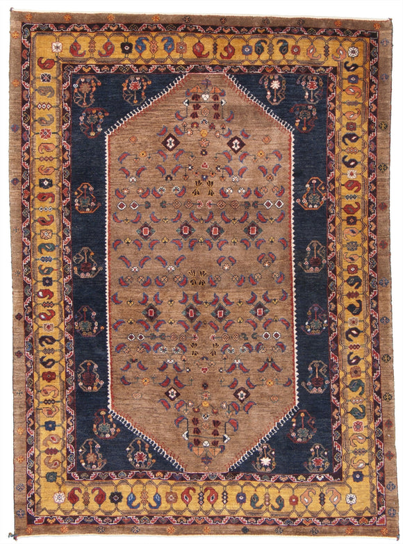 New Persian Hand-Knotted Kashkooli Gabbeh Tribal Rug