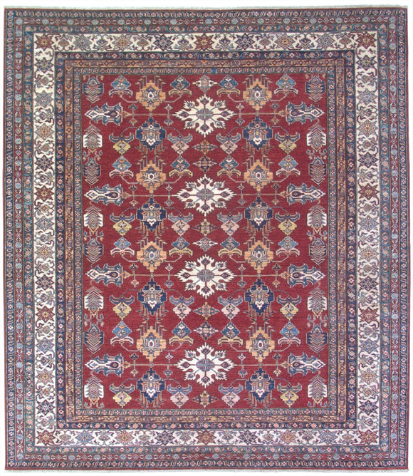 New Pakistan Hand-woven Antique Reproduction of a 19th Century Caucasian Kazak Rug   8'3