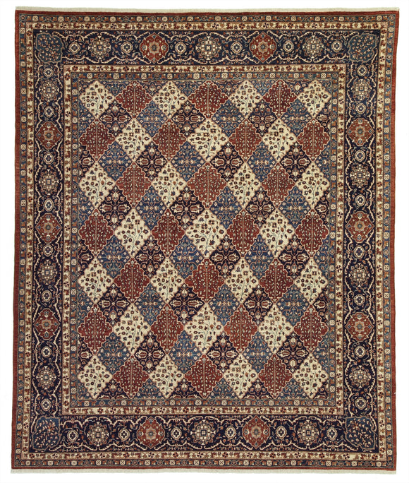 New Pakistan Hand-woven Antique Reproduction of a 19th Century Khorasan Carpet    8'1