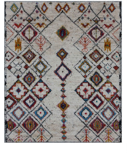 New Pakistan Hand-knotted Antique Recreation of Moroccan Antique Carpet       9'x 12'      SOLD