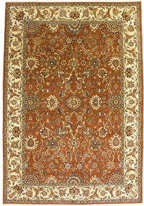 "New Pakistan Hand-woven Antique Reproduction of a 19th Century Persian Carpet   9'9""x 14'2"""