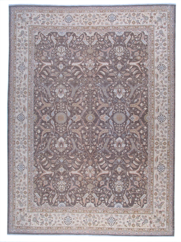 New Pakistan Hand-woven Antique Reproduction of a 19th Century Persian Tabriz Carpet  9'x 12'5