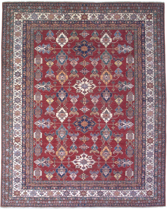 New Pakistan Hand-woven Antique Reproduction of a 19th Century Caucasian Kazak Rug   8'2