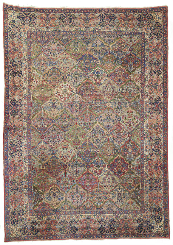 Antique Original Persian Kerman That Inspired so Many to Copy       9'6