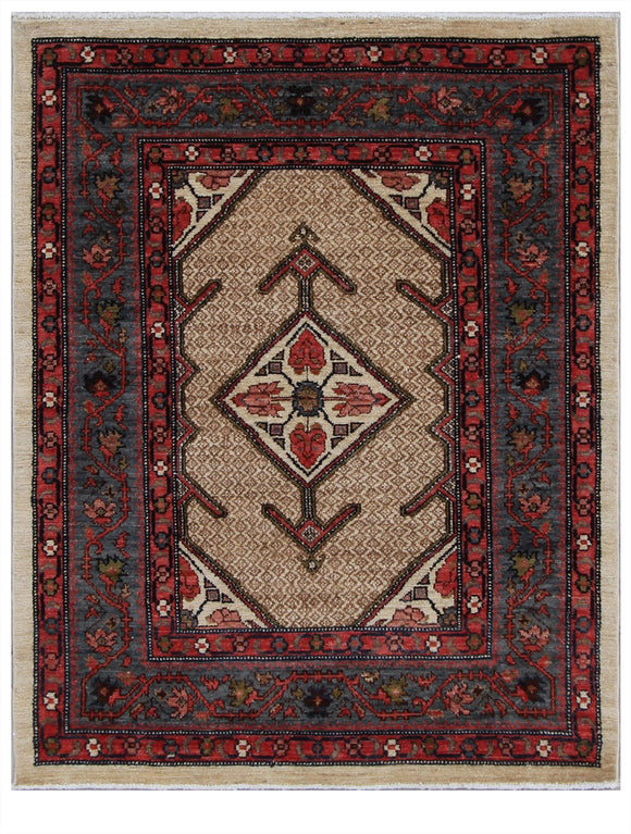 Pakistan Hand-Knotted Antique Recreation of 19th Century Persian Serab    3'6