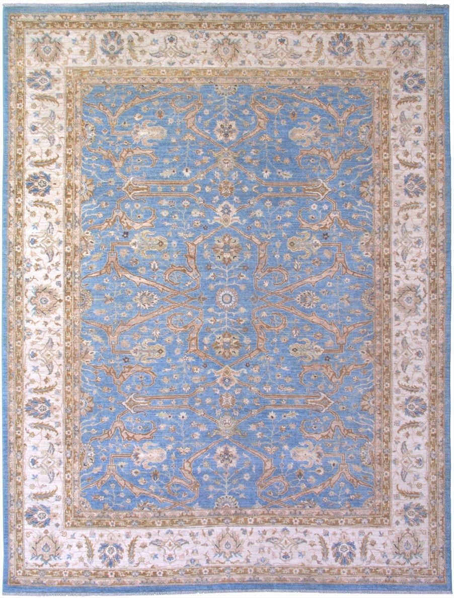 "New Pakistan Hand-woven Antique Reproduction of a 19th Century Persian Ferahan  8'8""x 11'6"""