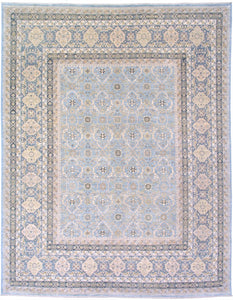 "New Pakistan Hand-woven Antique Reproduction of a 19th Century Persian Carpet  7'10""x 10'"