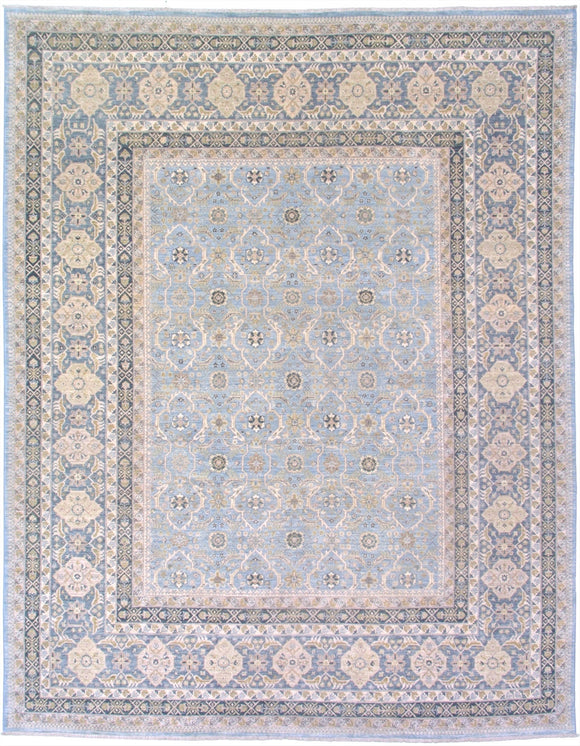 New Pakistan Hand-woven Antique Reproduction of a 19th Century Persian Carpet  7'10