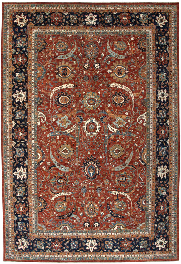 New Pakistan Hand-Knotted Antique Recreation of a 17th Century Persian Masterpiece     11'10