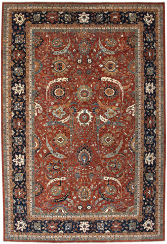 "New Pakistan Hand-Knotted Antique Recreation of a 17th Century Persian Masterpiece     11'10""x 17'5"""