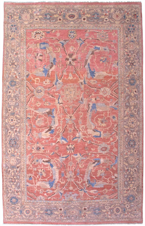 New Pakistan Hand-woven Antique Reproduction of a 19th Century Persian Sultanabad Carpet   9'6