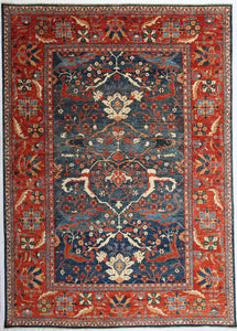 New Hand-knotted Antique Recreation from Afghanistan. 19th Century Persian Sultanabad Design.   SOLD