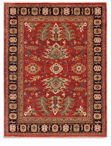 New Pakistan Hand-woven Antique Reproduction of a 19th Century Persian Village Rug  5'2
