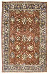 "New Pakistan Hand-woven Antique Reproduction of a 19th Century Persian Carpet   7'11""x 9'9"""