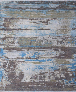 New Pakistan Hand-Knotted Contemporary Abstract Oriental Carpet   8'x 9'5""