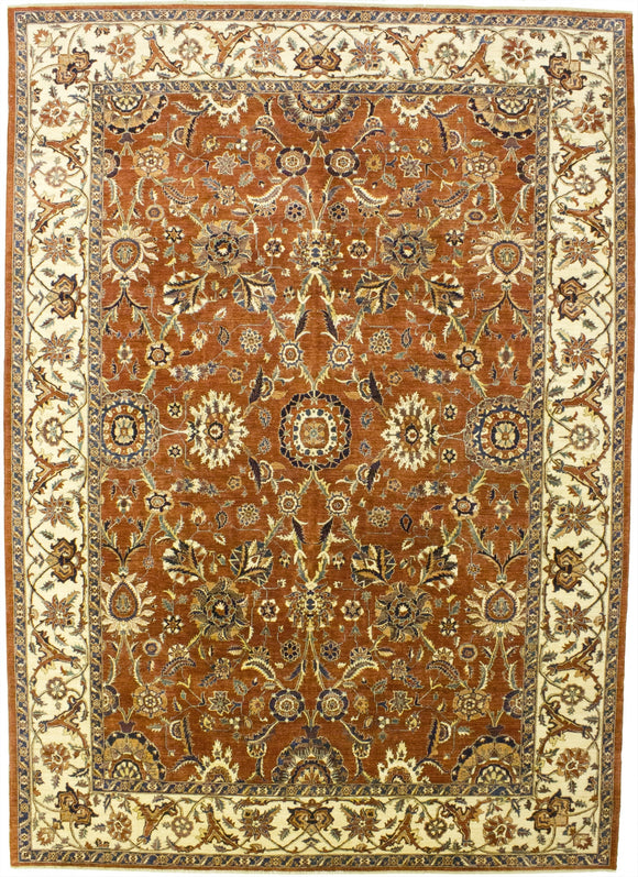 New Pakistan Hand-woven Antique Reproduction of a 19th Century Persian Tabriz Carpet   9'9
