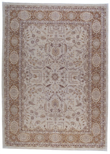 "New Pakistan Hand-woven Antique Reproduction of a 19th Century Persian Tabriz Carpet  9'1""x 12'6"""
