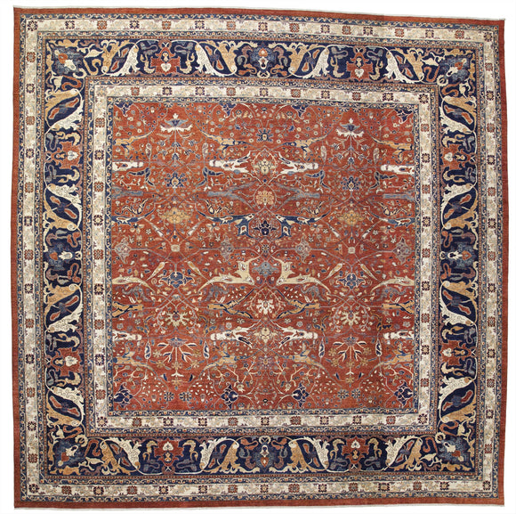 New Pakistan Hand-woven Antique Reproduction of a 19th Century Persian Garrus Bijar   17'4