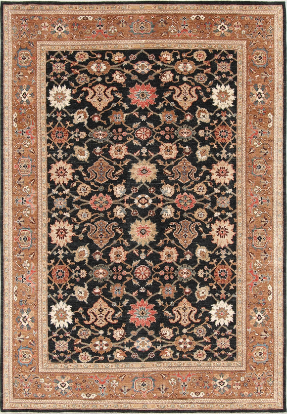 New Pakistan Hand-woven Antique Reproduction of a 19th Century Persian Carpet   9'9