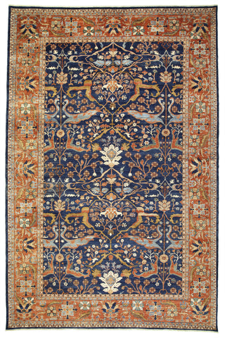 New Afghanistan Hand-knotted Antique Recreation of a 19th Century Persian Village Carpet  12'x 17'6""