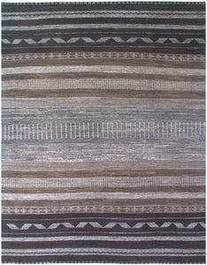 "New Pakistan Hand-Knotted Modern Carpet         7'10""x 10'2"""