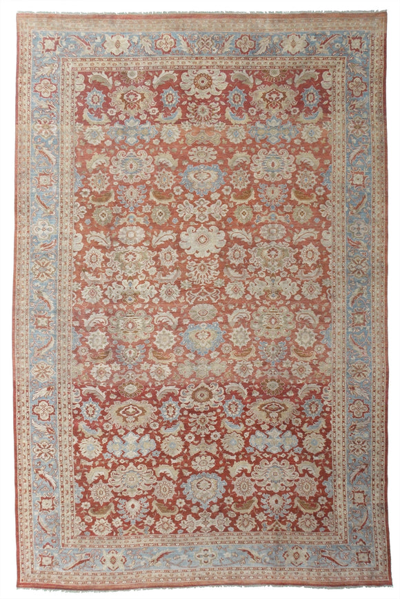 New Pakistan Hand-woven Antique Reproduction of a 19th Century Persian Sultanabad Carpet  11'3