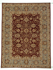 "New Pakistan Hand-woven Antique Reproduction of a 19th Century Persian Carpet    8'9""x 11'7"""