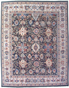 "New Pakistan Hand-woven Antique Reproduction of a 19th Century Persian Sultanabad Carpet   11'8""x 15'"