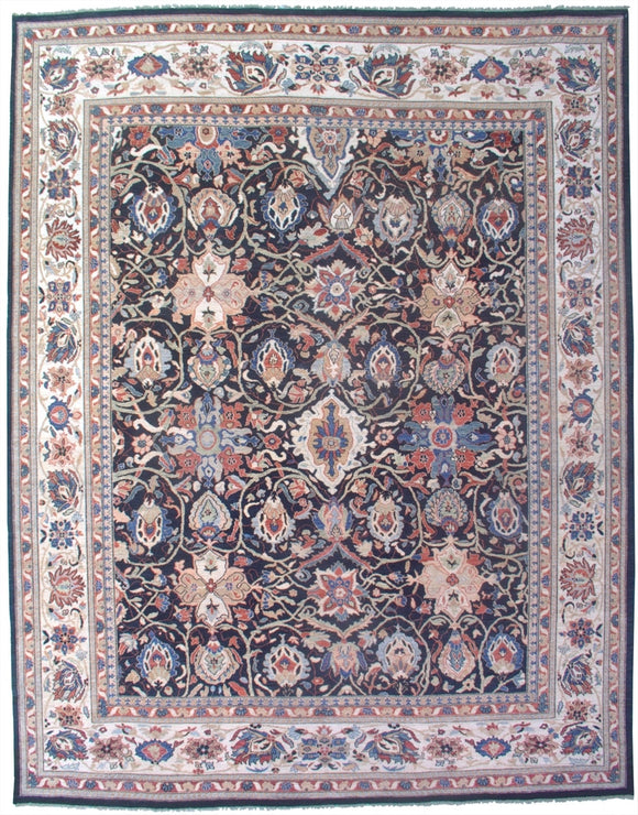 New Pakistan Hand-woven Antique Reproduction of a 19th Century Persian Sultanabad Carpet   11'8