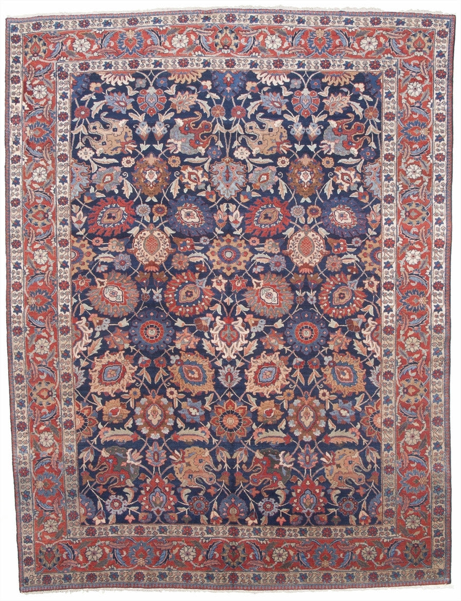 "Antique Persian Tabriz Carpet          9'4""x 12'2"""