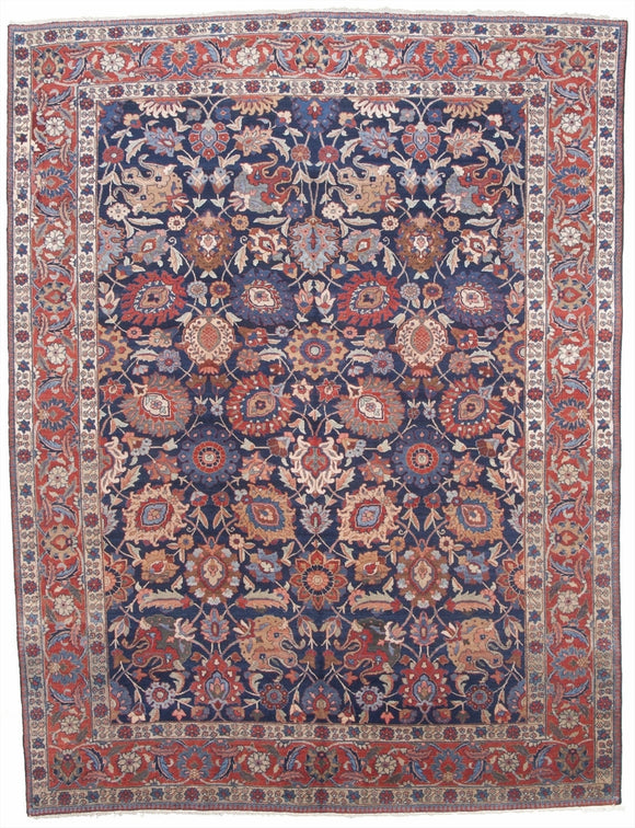 Antique Persian Tabriz Carpet          9'4