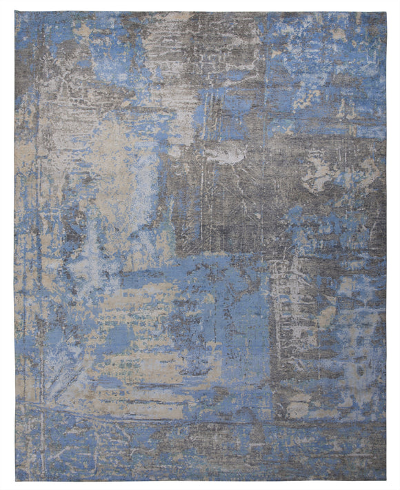 New Pakistan Hand-Knotted Contemporary Modern Abstract Carpet   12'x 14'10