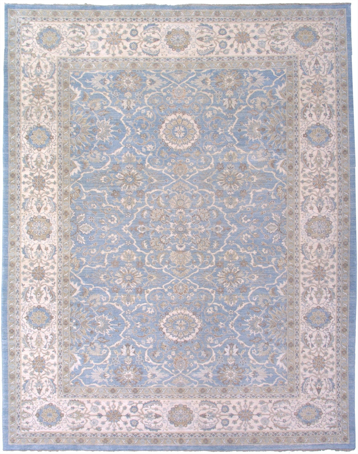 New Pakistan Hand-Woven Antique Reproduction of a 19th Century Persian Tabriz Carpet.   SOLD
