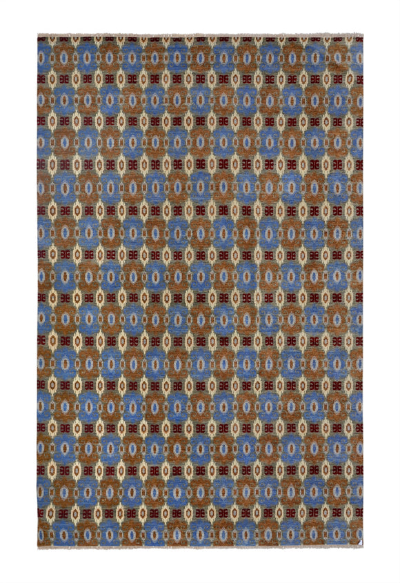 New India Hand-knotted Tibetan Weave (80 Quality)   8'x 10' - 13'x 19'