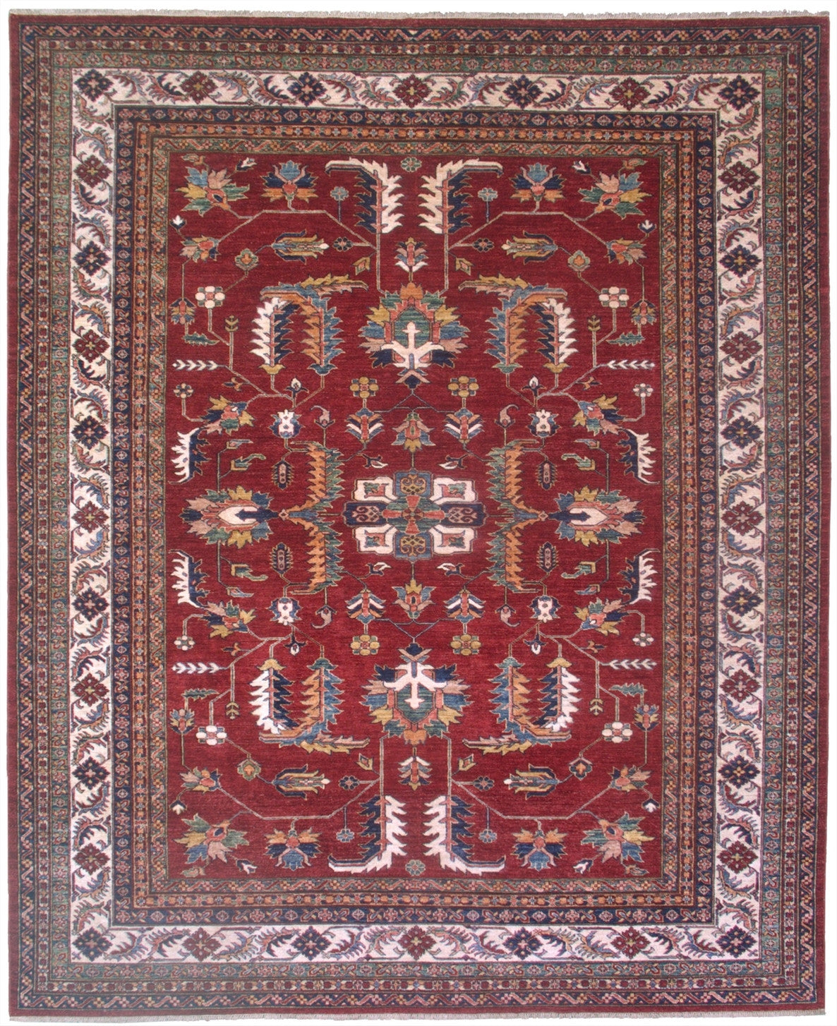New Pakistan Hand-woven Antique Reproduction of a 19th Century Caucasian Kazak Rug   SOLD