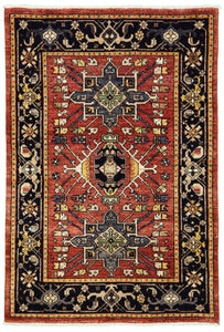 "New Pakistan Hand-woven Antique Reproduction of a 19th Century Persian Karajeh Rug   3'1""x 4'7"""