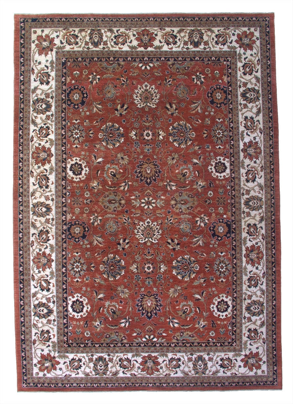 New Pakistan Hand-woven Antique Reproduction of a 19th Century Persian Carpet     9'10