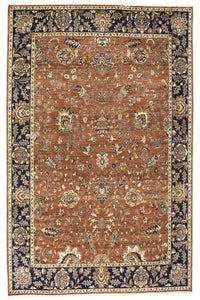"New Pakistan Hand-woven Antique Reproduction of a 19th Century Persian Carpet   7'11""x 10'"