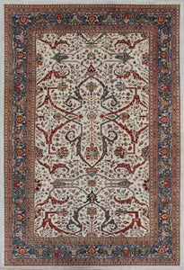 New Afghanistan Hand-woven Antique Reproduction of a 19th Century Persian Ferahan Carpet  4'x 6' - 13'x 19'