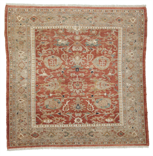 New Pakistan Hand-knotted Antique Recreation of an Antique Persian Sultanabad      7'3