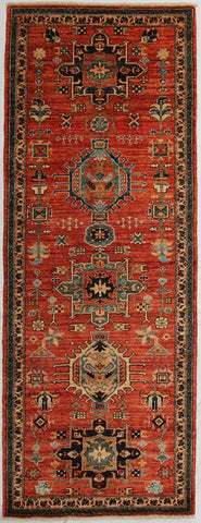 New Pakistan Hand-Knotted Antique Recreation of a Persian Karajeh Design   SOLD