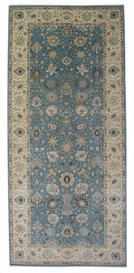 "New Pakistan Hand-woven Antique Reproduction of a 19th Century Persian Carpet Runner   6'1""x 14'"