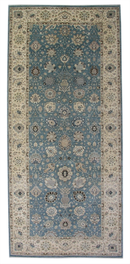 New Pakistan Hand-woven Antique Reproduction of a 19th Century Persian Carpet Runner   6'1