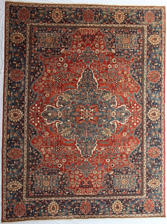 New Pakistan Hand-Knotted Antique Recreation of 19th Century Persian Ferahan   8'2