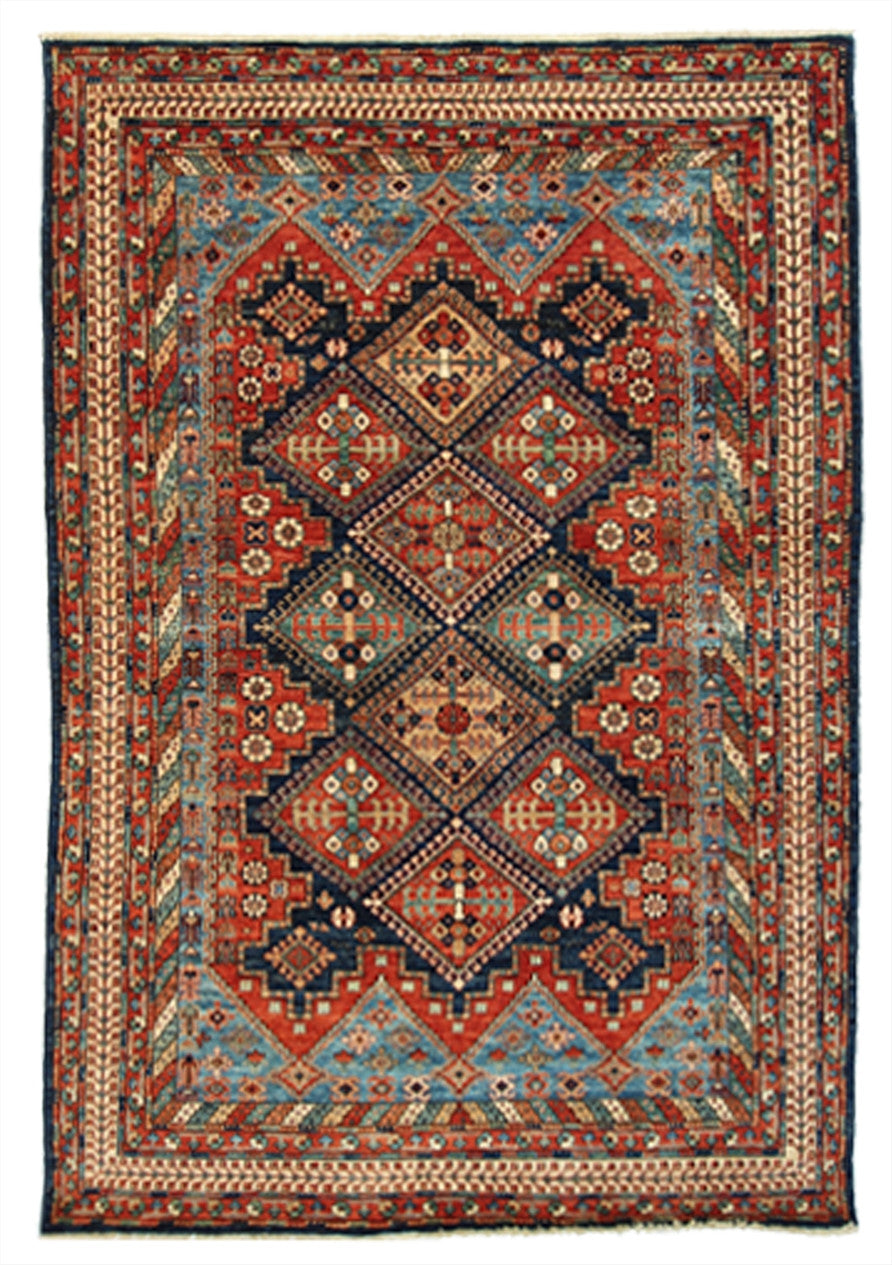"New Pakistan Hand-Knotted Antique Recreation of a 19th century Southern Iranian Tribal Rug  8'1""x 10'4"""