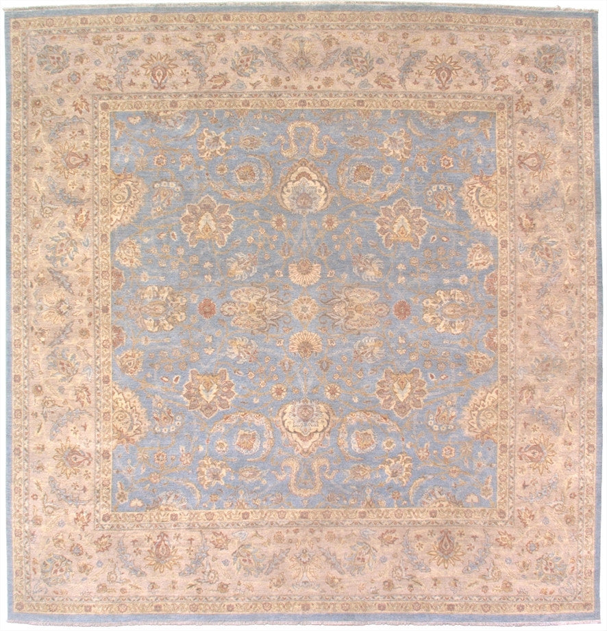 New Pakistan Hand-woven Antique Reproduction of a 19th Century Persian Carpet  10'x 10'2  SQUARE