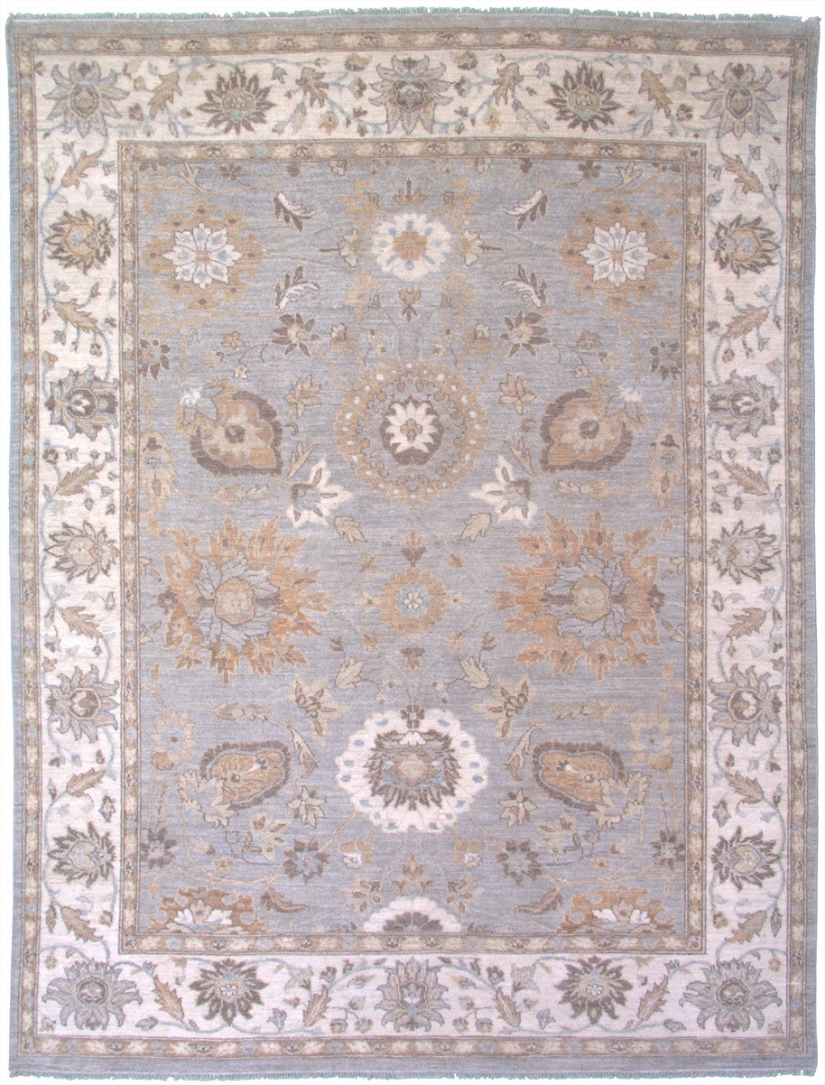 "New Pakistan Hand-woven Antique Reproduction of a 19th Century Persian Sultanabad Carpet   7'9""x 10'"